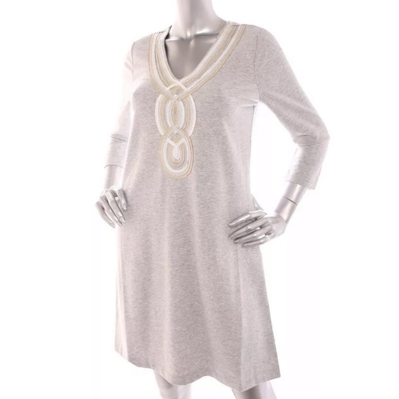 Lilly Pulitzer Dresses & Skirts - Lilly Pulitzer Women Piping Dress Gray M